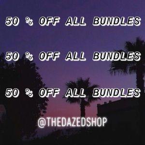 50 % OFF BUNDLES •